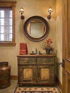 Bathroom sink--whole room is cute