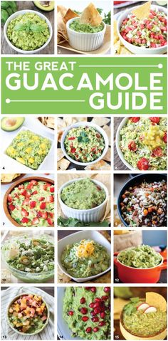 15 Guacamole Recipes on twopeasandtheirpod.com 15 of the BEST guacamole recipes. You have to make them ALL! Perfect for parties or every day snacking!