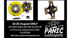 This week only, 5% off all clutch discs and kits only at http://store.panicmotorsports.com ...  #panicracing #mazdaspeed #mazdamiata #miata #mazdamx5 #mx5 #specmiata #performanceparts #enduranceracing