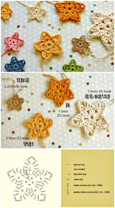 Most up-to-date Cost-Free Crochet stitches star Style Crochet Star Patterns / 37 Free Crochet Start Stitch, Crochet Star Patterns, Crochet Stars, Christmas Crochet Patterns, Crochet Snowflakes, Crochet Motif, Crochet Flowers, Crochet Stitches, Free Crochet, Crochet Appliques