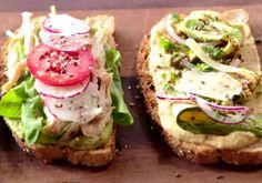Aprenda a fazer receita de sanduíche aberto com pasta de grão-de-bico