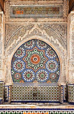 Fontaine Place an-Nejjarine, Morocco