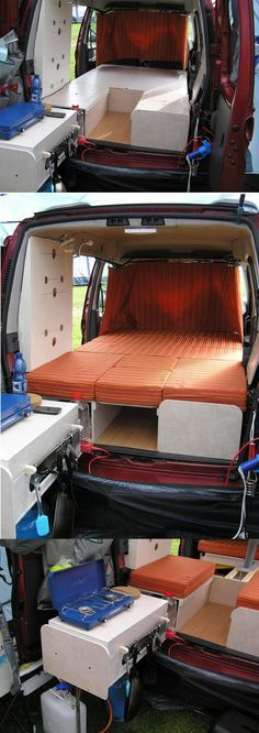 Car Camper Conversion Kit And it has been done Check out the Amdro website to watch a video 1600 x 1200 · 348 kB · jpeg Amdro Jump Boot Thread: Berlingo + Amdro Boot Jump + Quechua Pop. Car Camper, Mini Camper, Camper Life, Camper Trailers, Minivan Camping, Truck Camping, Diy Camping, Camping Hacks, Kangoo Camper