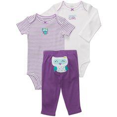 3-piece Bodysuit Pant Set | Baby Girl New Arrivals