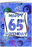 65th Birthday Card