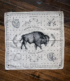 Bandana - Keep It Wild - Natural - Bexar Goods Co :: Texas Makers of Durable Goods