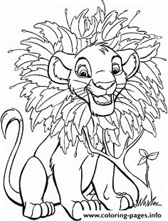 What about coloring this beautiful picture of baby Simba in his