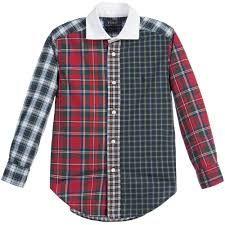 POLO RALPH LAUREN Boys Cotton Red-Multi Tartan Check Shirt