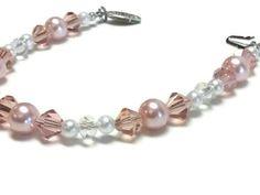 Peach Uterine Cancer Awareness Bracelet by bellelaroseboutique