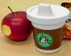 BABY DUCKS COFFEE SIPPY CUP ~ A nod to our favorite coffee chain! ~ #Starbucks