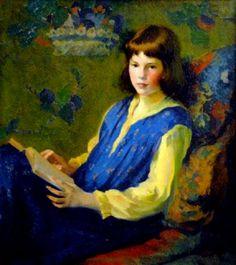 Narcissa Vanderlip, aos 11 anos, 1915 Ivan Olinsky (Rússia/EUA, 1878-1962) óleo sobre tela