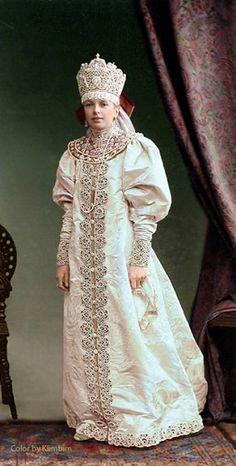 Цветные фото с бала 1903 года (подборка) / История моды / ВТОРАЯ УЛИЦА