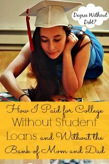 College costs have skyrocketed over the last few years, making it expensive to get an education. Find out how I paid for college without student loans- you can do it too!!
