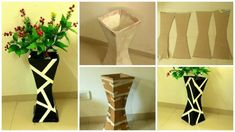 How to make vase from cardboard-featured