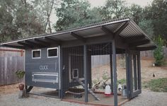 A modern diy chicken coop. Mid century LOVE! :)