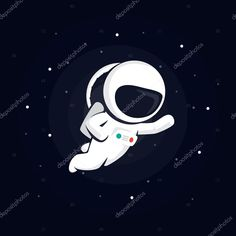astronaut in space among the stars on a dark background. vector  illustration with starry background — Stock Vector © cobectbhax.gmail.com  #109977486