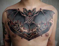 Resultado de imagen de biomechanical bat tattoo