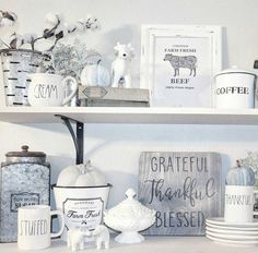 LOVE it all !!! Great Decorating Ideas for Farmhouse, Fixer Upper, French Country, Modern Country, Shabby Chic and Cottage Decor!