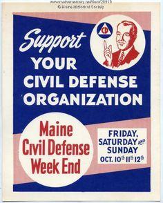 Civil Defense Week End poster, 1958. Item # 28918 on Maine Memory Network