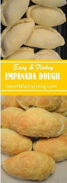 The BEST Flakey Empanada Dough I've ever made. Check it out! - The BEST Flakey Empanada Dough I've ever made. Check it out! Empanadas Recipe Dough, Pastry Dough Recipe, Puff Pastry Recipes, Easy Empanada Recipe, Empanadas Dough For Frying, Hand Pie Crust Recipe, Puff Pastries, Mexican Food Recipes, Beef Recipes