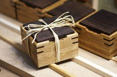 hand made wooden boxes as christmas gifts