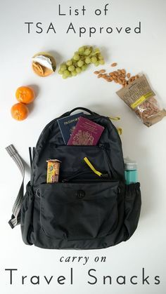 Travel Tips : Complete list of TSA Approved Carry-On Foods for your next trip. You might be surprised what you are actually allowed to take onboard! Click through for the full list.