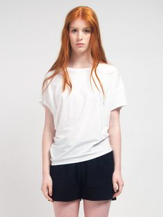 Beverly Tee,  classic white tee can be paired up with anything from shorts to pants or skirts! must have in your wardrobe. http://skinworldwideshop.com/collections/clothing/products/beverly-tee