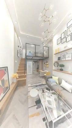 3d Home Design, Small House Interior Design, Small Apartment Design, Home Room Design, Apartment Interior, Duplex Apartment, House Floor Design, Tiny House Design, Small Loft Apartments