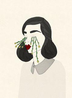 """[ILLUSTRATION] """"Give Me You Eyes I Need Sunshine"""" par Alexis Winter  #illustration #dessin"""