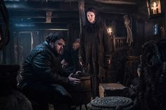 John Bradley-West as Samwell Tarly and Hannah Murray as Gilly