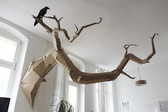 Figurative Cardboard Sculptures Spring to Life