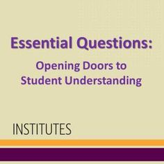 In this blog post, ASCD author Jay McTighe shares an upcoming opportunity for educators to better understand the development and use of essential questions.