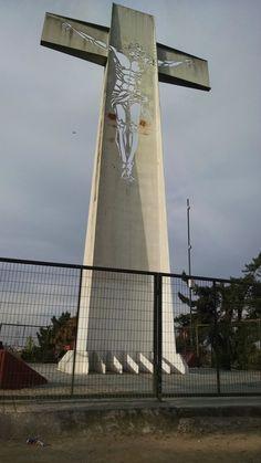 Otra vista de la cruz del Cerro Primo de Rivera, Maipú, Santiago de Chile.