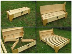 Portable King size bed frame.