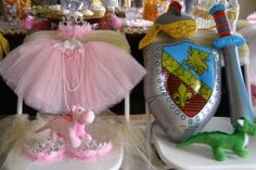 Gorgeous Princess and Knight Birthday Party in a Box from My Princess Party to Go. #princessandknight #princesspartyideas