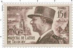 Timbre 1952 : MARÉCHAL DE LATTRE DE TASSIGNY | WikiTimbres