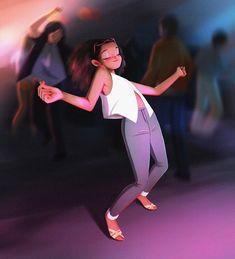 Inspired by Diana Ross Illustration Girl, Character Illustration, Girl Cartoon, Cartoon Art, Art Beauté, Summer Vibe, Spirited Art, Digital Art Girl, Girl Dancing