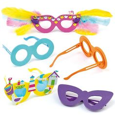 7fba90847ba Baker Ross Foam Glasses. £11.16 for 18   62p each. Would need to