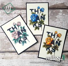 Mitosu Crafts - Independent Stampin' Up! Demonstrators: Create Quick and Easy Cards with the Floral Statements #stampinup