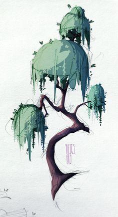 ArtStation - Trees, Anastasia Walker #digitalart