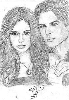 vampire diaries drawings deviantart aes25 coloring easy drawing sketches pencil dairies