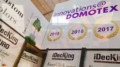 Domotex 2017 Show in Hannover -  Best Decking systems! iDecking Revolution winning the Innovations prize again! Discover more on www.idecksystems.com