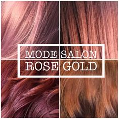 Rose Gold Hair Color is Trending now, every shade from pale pink rose to dark Violet rose gold. Hair Color Pink, Hair Color And Cut, Hair Colours, Rose Gold Ombre, Rose Gold Hair, Viral Shampoo, Korean Hair Color, Hair Shades, Pastel Hair