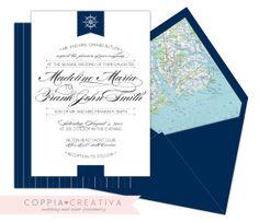 Nautical Wedding Invitation by CoppiaCreativa on Etsy, $3.30