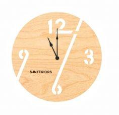 Оригинальные настенные часы из фанеры S-Interiors 96
