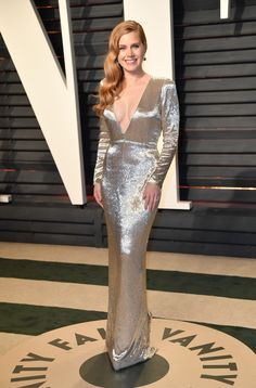 BEVERLY HILLS, CALIFORNIA - FEBRUARY 26: Amy Adams poses as she arrives at the Vanity Fair Oscar Party in Beverly Hills, California, Los Angeles on February 27, 2017. (Photo by Philip Rock/Anadolu Agency/Getty Images) via @AOL_Lifestyle Read more: https://www.aol.com/article/entertainment/2017/02/26/vanity-fair-oscars-party-2017-red-carpet-arrivals/21722268/?a_dgi=aolshare_pinterest#fullscreen