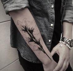 Xray gladiolus flower tattoo