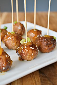 These simple-to-make slow cooker Pineapple Teriyaki Meatballs are incredibly delicious, and the perfect meatball appetizer for game day or anytime.