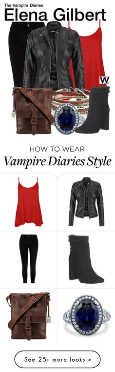 """The Vampire Diaries"" by wearwhatyouwatch on Polyvore featuring River Island, WearAll, maurices, Platadepalo, BERRICLE, Office, Frye, television and wearwhatyouwatch"