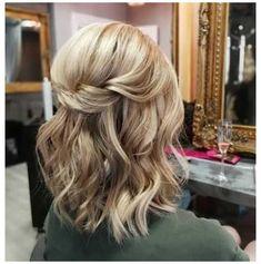 Half Up Half Down Short Hair, Wedding Hairstyles Half Up Half Down, Down Hairstyles, Hairdos, Hairstyles 2016, Office Hairstyles, Anime Hairstyles, Stylish Hairstyles, School Hairstyles